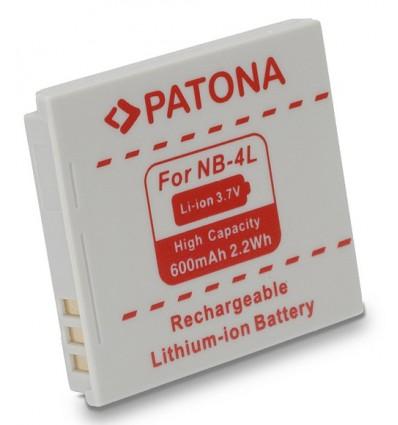 Аккумулятор NB-4L PATONA для Canon