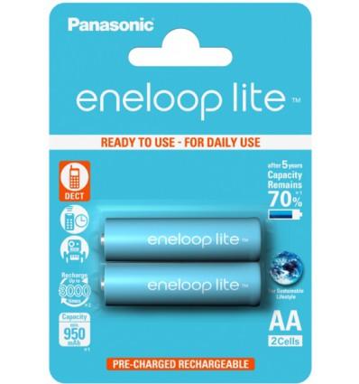 Аккумуляторы 2 X Panasonic Eneloop Lite R6/AA 950mAh BK-4LCCE/2BE