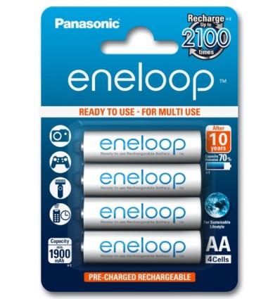 Аккумуляторы 4 X Panasonic Eneloop R6 AA 2000mAh BK-3MCCE/4BE