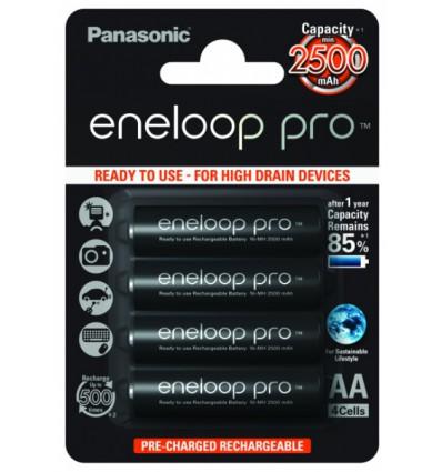 Аккумуляторы 4 x Panasonic Eneloop PRO R6/AA 2550mAh BK-3HCDE/4BE