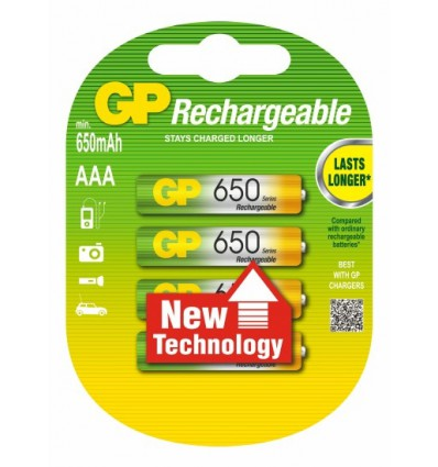 Аккумуляторы 4 X GP R03 AAA Ni-MH 650 mAh