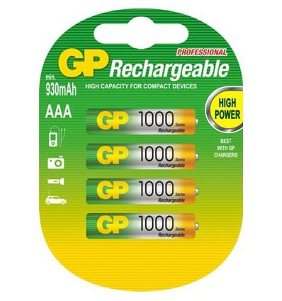 Аккумуляторы 4 X GP R03 AAA Ni-MH 1000 mAh