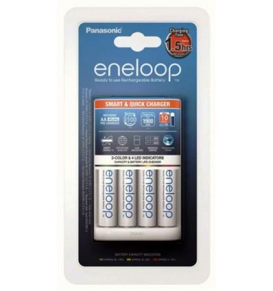 Зарядное устройство Panasonic Eneloop BQ-CC55 + 4 X R6/AA Eneloop 2000mAh BK-3MCCE