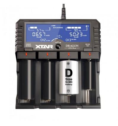 Зарядное устройство Xtar Dragon VP4 Plus для Li-ion, Ni-MH аккумуляторов