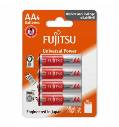 Элементы питания щелочные 4 x Fujitsu Universal Power LR6 AA