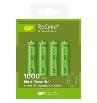 Аккумуляторы 4 X R03/AAA GP ReCyko+ 1000 Series 950mAh