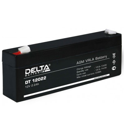 Аккумулятор свинцово-кислотный Delta DT 12022 12V 2.2Ah