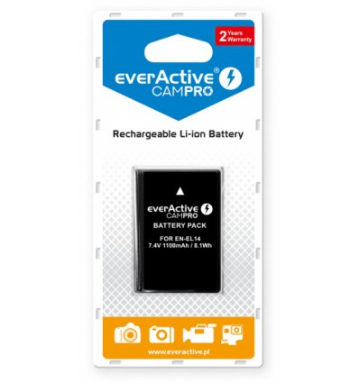 Аккумулятор EN-EL14 EverActive CamPro