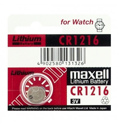 Батарейка литиевая Maxell CR1216