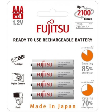 Аккумуляторы 4 X Fujitsu HR-4UTCEX R03/AAA 800mAh