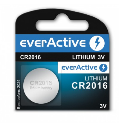 Батарейка литиевая everActive CR2016