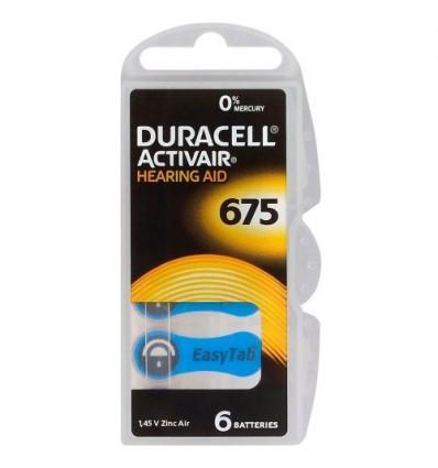 Батарейки для слуховых аппаратов Duracell ActivAir 675 MF 6 шт