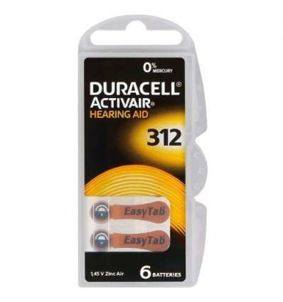 Батарейки для слуховых аппаратов Duracell ActivAir 312 MF