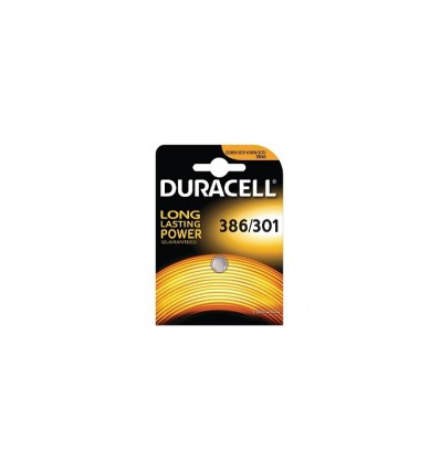 Батарейка Duracell 301 / 386 / SR43 / G12