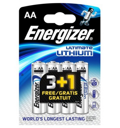 Батарейки литиевые Energizer L91 Ultimate Lithium R6 AA, 4 шт.