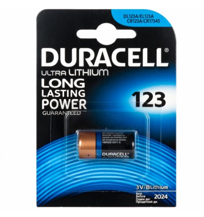 Батарейка литиевая Duracell CR123