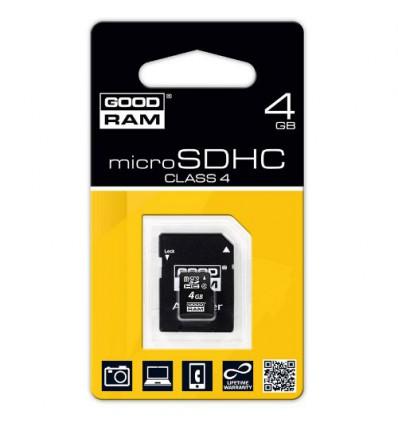 Карта памяти GoodRam MicroSDHC 4GB Class 4