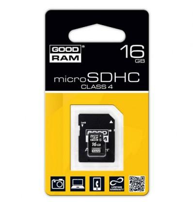 Карта памяти GoodRam MicroSDHC 16GB Class 4