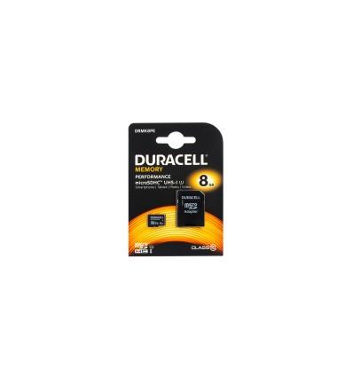 Карта памяти MicroSDHC Duracell 8GB Class 10 UHS-I