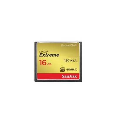 Карта памяти SanDisk Compact Flash Extreme 16GB (CF) 120MB/S 800x