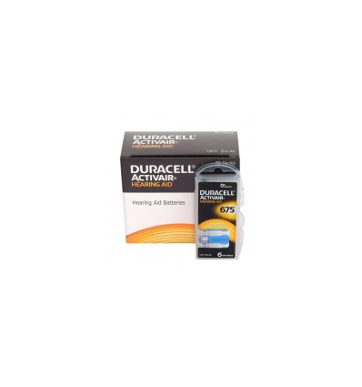 Батарейки для слуховых аппаратов Duracell ActivAir 675 MF 60 шт.