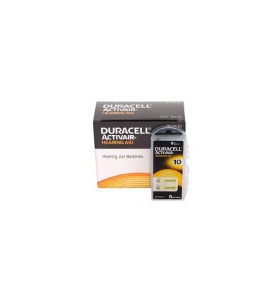 Батарейки для слуховых аппаратов Duracell ActivAir 10 MF 60 шт.