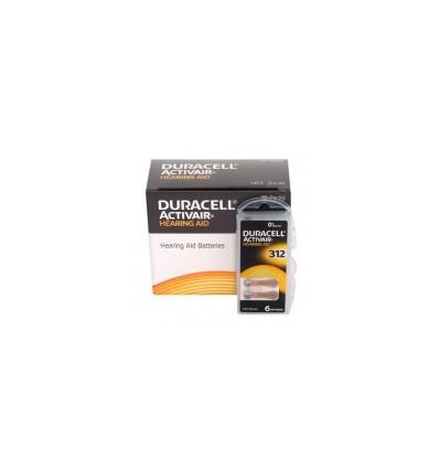 Батарейки для слуховых аппаратов Duracell ActivAir 312 MF 60 шт.
