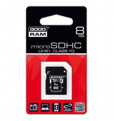 Карта памяти GoodRam MicroSDHC 8GB Class 10 UHS-I