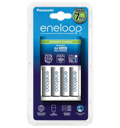 Зарядное устройство Panasonic Eneloop BQ-CC17 + 4 X R6/AA Eneloop 2000mAh BK-3MCCE
